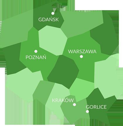 Meblorent mapa