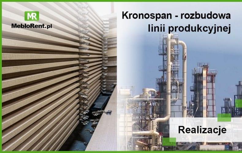 Rozbudowa linii produkcyjnej w firmie Kronospan