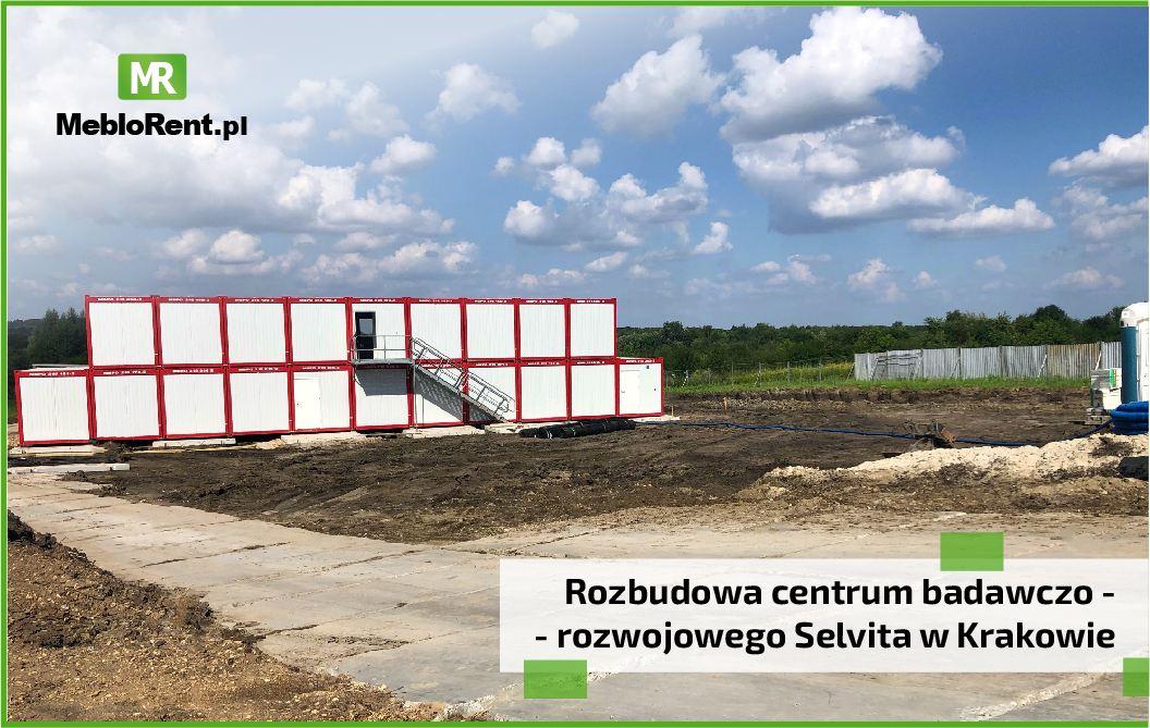 You are currently viewing MebloRent na budowie centrum badawczo – rozwojowego Selvita w Krakowie